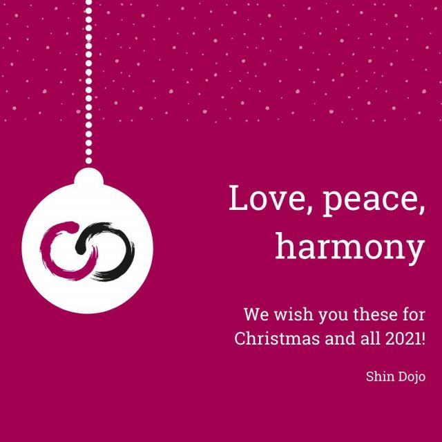 Love, peace and harmony - we wish you these for Christmas and all 2021!#neverStopLearning #aïkido #love #peace #harmony