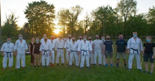What is the best way to gather 26 dan grades in one place?   Just organize a very first training after a too-long COVID-19 break! It was so good to meet again and practice buki waza a little bit :). A strong team gathered during sunset, made a couple of hundred shomenuchi, a bit of a plank ;-) and as you can see in the picture they loved it! :)   PS. We can hardly wait to be back on tatami...  #neverstoplearning #sogoodtosweatagain #shindojo #aikido #aikidoclass #aikidoaikikai #aikidoka  #aikikai #loveaikido #hakama #aiki #aikido_aikikai #budo #dojo #blackbelt #sztukiwalki #aikidojo #martialarts #fighter #selfdefense #keiko #jo #bokken #bukiwaza #bukiwazaclass #poznan