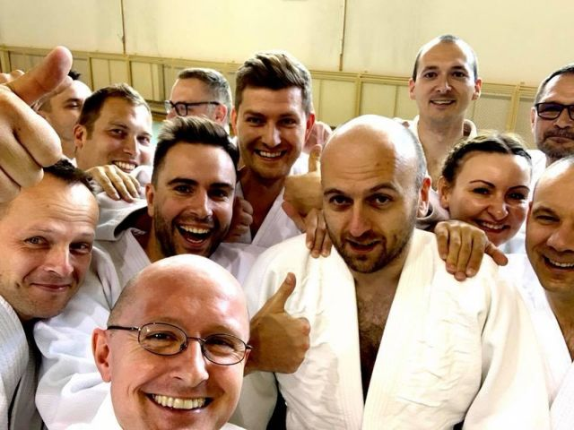 #Aikido Summer Camp has officially started! We can hardly wait for upcoming 5 days of hard work and doing nothing :-). #NeverStopLearning #shindojo #friends #dojo #holidays #blackbelt #martialarts #happiness #Training #aikidodojo #aikidoclass #aikidoseminar #aikidoaikikai #aikidoka  #aikikai #loveaikido #hakama #zlotow #blackbelttraining #osensei
