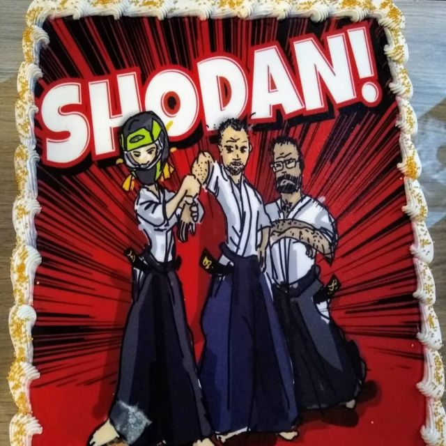 We have got three new #shodan students in #Shindojo! After soooo long time of preparations, the exam was a piece of cake - that's why a BIG piece of cake was the best way to celebrate it :-). Congratulations fly to Monika, Bartos, and Remi for persistence throughout all these years and exceptional performance during the exam. PS. We count for more!#aikido #aikidodojo #aikidoclass #aikidoseminar #aikidoaikikai #aikidoka  #aikikai #loveaikido #hakama #złotów #zlotow #blackbelt #martialarts #aikido_techiniques #aikidolifestyle #aikidolife