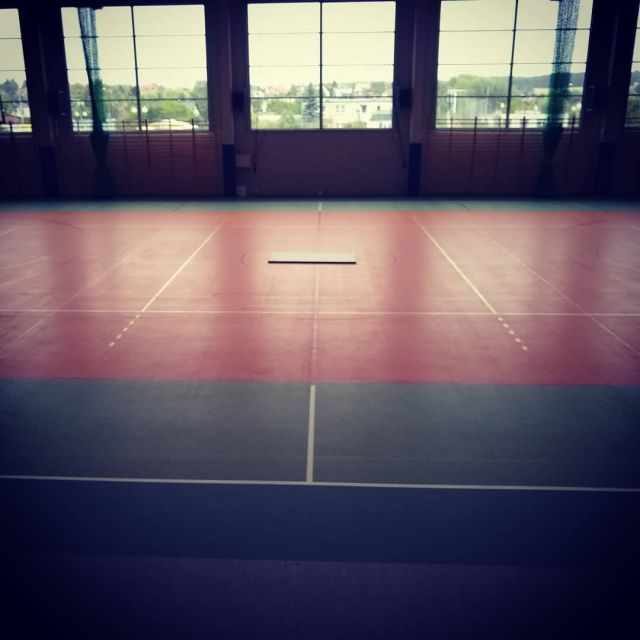 We have already completed setting up tatami for the upcoming seminar with Sensei Christian Tissier ;-). #joke