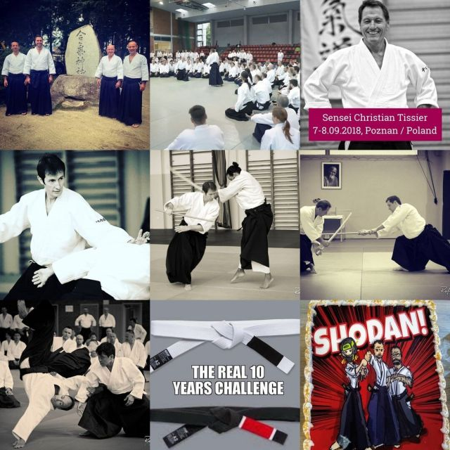It's been an amazing year for Shin Dojo full of exceptional events:1. the visit in Japan⛩️ and being a part of the IAF delegation during the embukai in #Iwama Dojo2. another amazing seminar with the one and only #Sensei Christian Tissier3. the seminar with Sensei Pascal Guillemin4.the seminar with Sensei Wilko Vriesmann5. and last but not least the next episode of Aikido Summer Camp 🌅 with Sensei Jean Marie Milleville.6. great exams and a set of freshly born 1st dans and kyus as a result of really hard work on tatami 👍7. at least one new aiki-child 👶:-) 8. and many many more fantastic memories from every single training in Shin Dojo 😍We do believe that this year will be even better - and we wish the same to you, our aiki-friends! #neverstoplearning #shindojo #bestofnine #bestof2019 #aikido #christiantissier #aikidodojo #aikidoclass #aikidoseminar #aikidoaikikai #aikidoka  #aikikai #loveaikido #hakama  #aiki #aikido_aikikai #budo #dojo #blackbelt #sztukiwalki #aikidojo #martialarts #fighter #selfdefense #keiko #martialart #budo #blackbelt